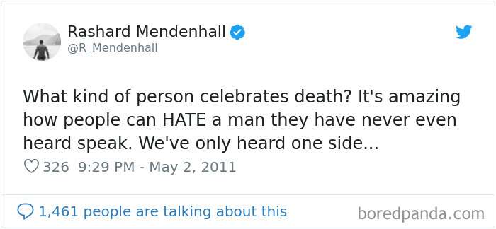 Rashard Mendenhall Lost His Endorsements And Eventually Retired From Professional Football Career Because Of A Tweet Relating To The Death Of Osama Bin Laden