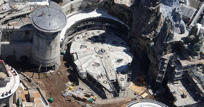 The $1 Billion Star Wars Land Is Nearly Finished And These Aerial Photos Show Just How Crazy It Looks