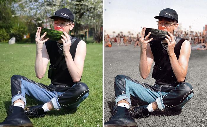 Este chico de 19 años vuelve a demostrar lo fácil que es engañar en las redes sociales falseando fotos en Coachella