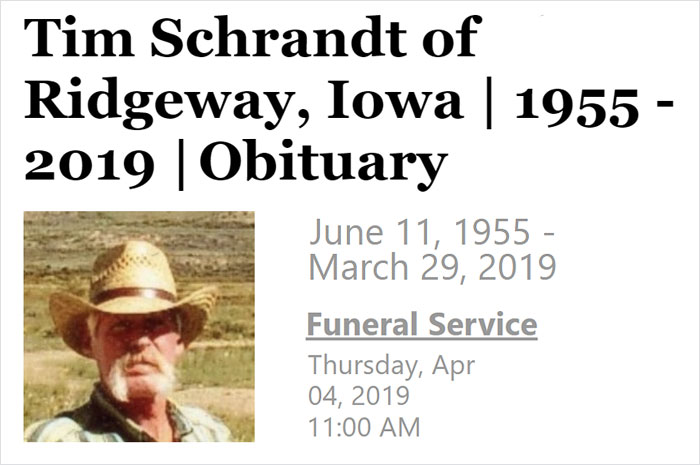 People Are Laughing At Hilariously Savage Obituary Of Iowa Man Written By His Relatives