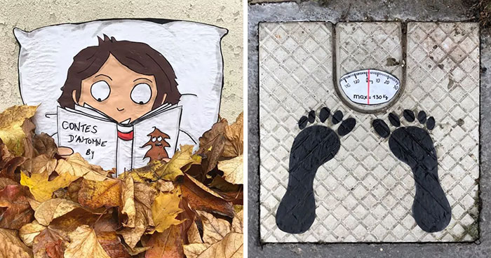 French Artist Spreads Humor In Urban Spaces Through His Art (50 Pics)