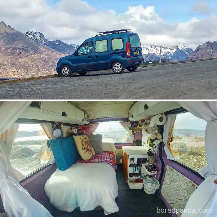 This Is My Mini Camper Van. If You'd Told Me 4 Months Ago That I Would Be Able To Convert My Own Mini Camper, I Definitely Wouldn't Have Believed You