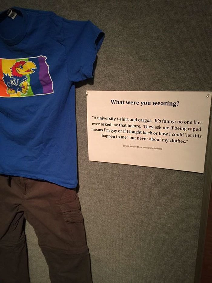 Victims Who Were Told That Their Clothing Got Them Sexually Assaulted Display What They Were Wearing