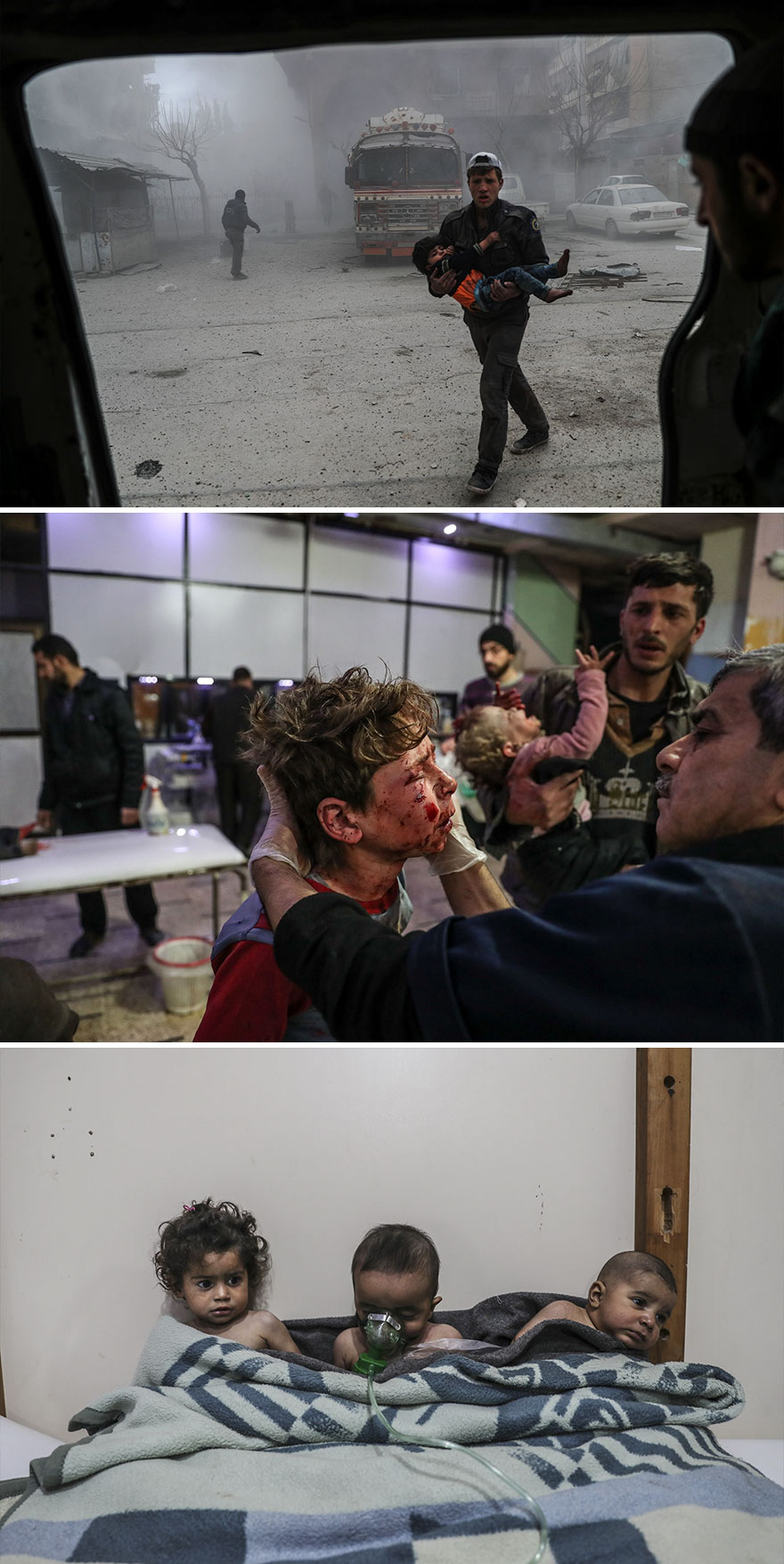 """Spot News, Stories, 2nd Prize, """"Syria, No Exit"""" By Mohammed Badra"""