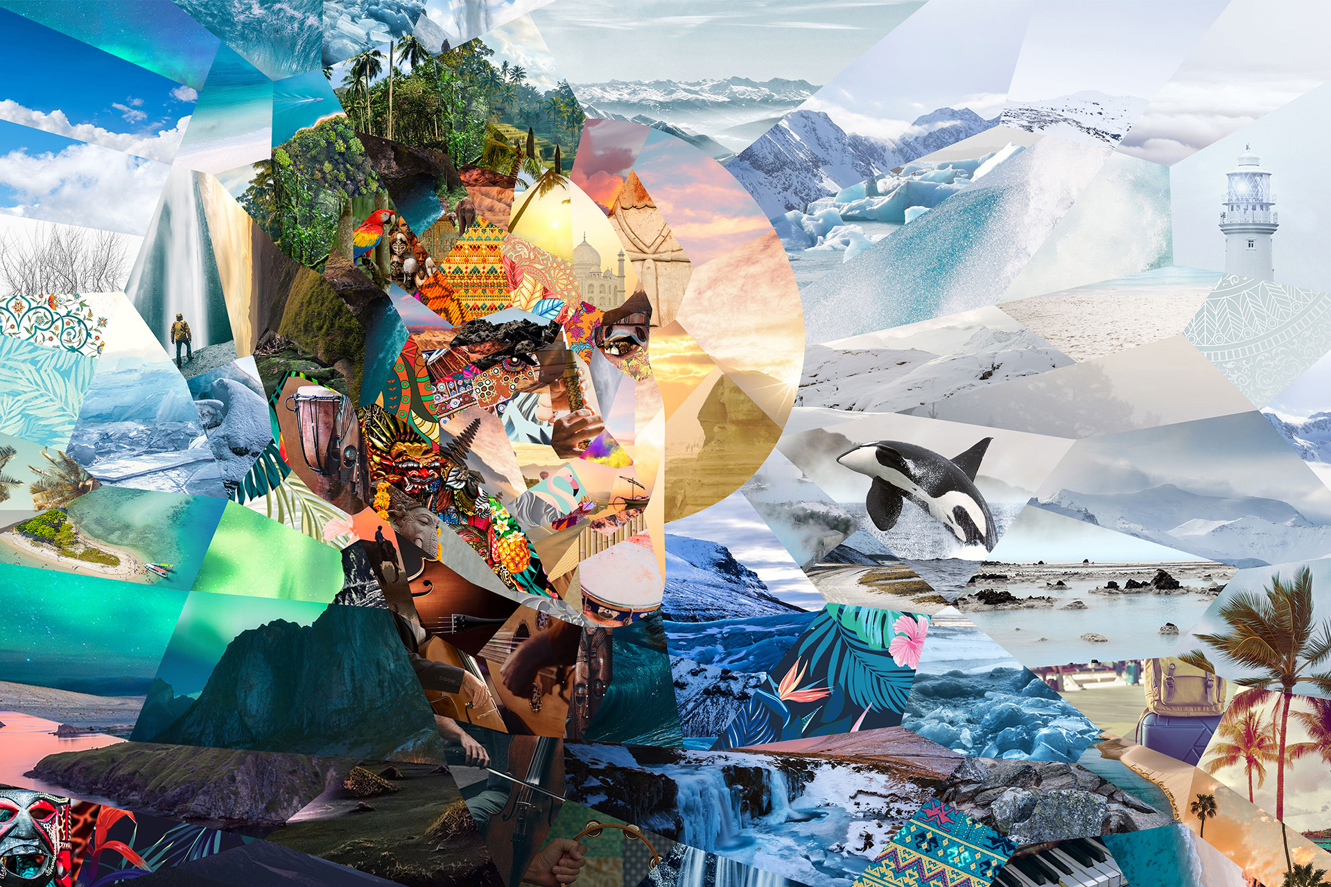 This Music Album Artwork Is Made Out Of More Than 160 Unretouched Images.