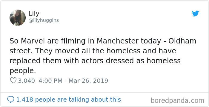 Actors Dressed As Homeless