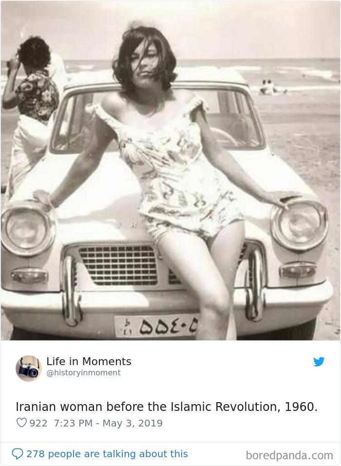 Mujer iraní antes de la revolución islámica, 1960
