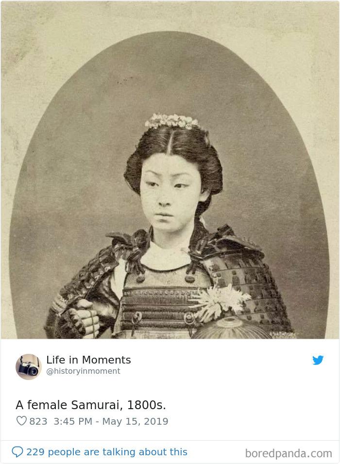 Mujer samurai, 1800 aprox.