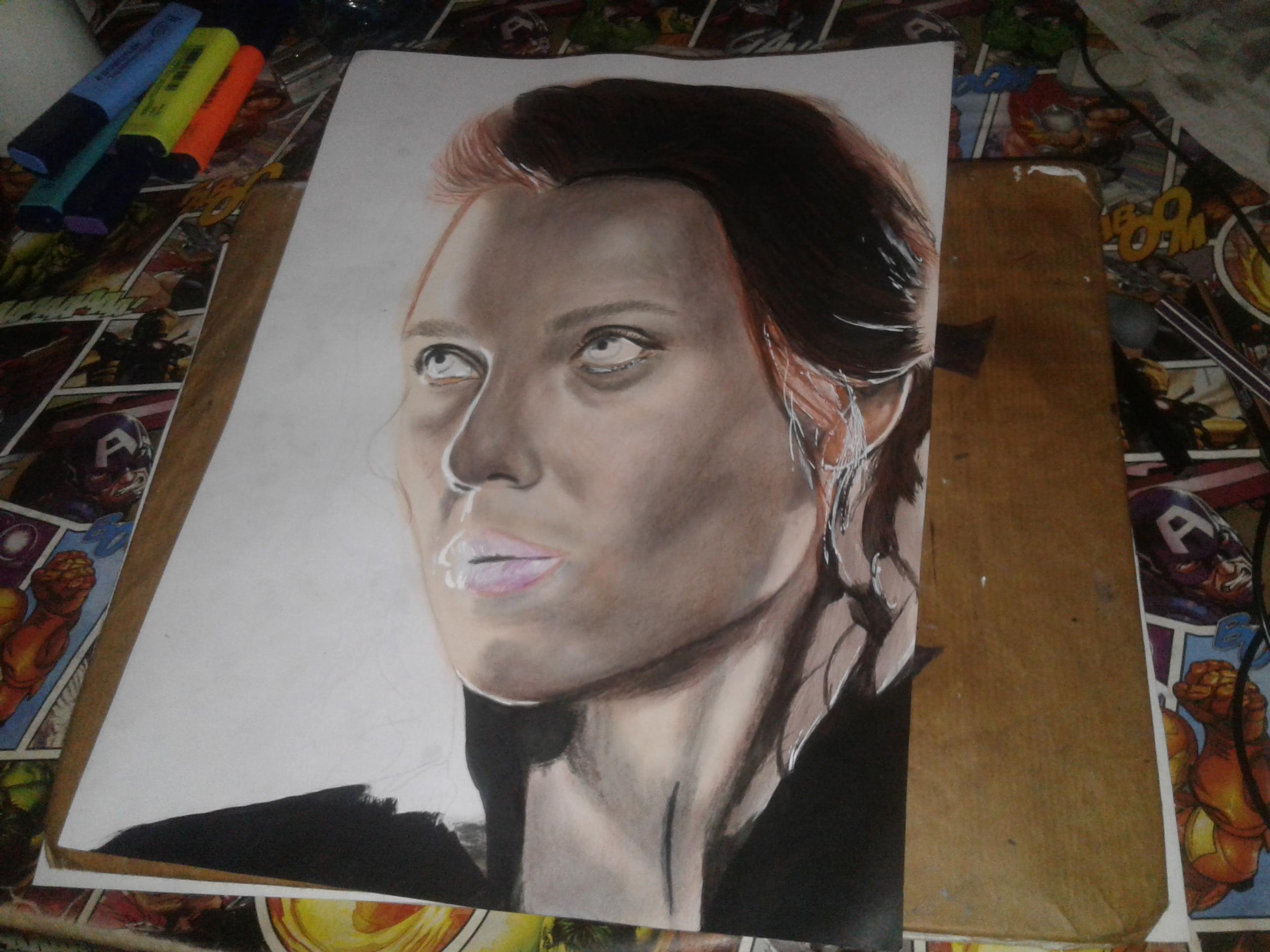 Black Widow Realistc Drawing
