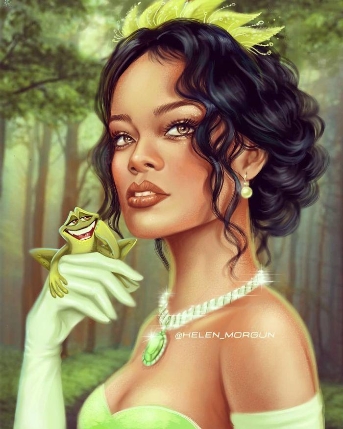 Rihanna como Tiana