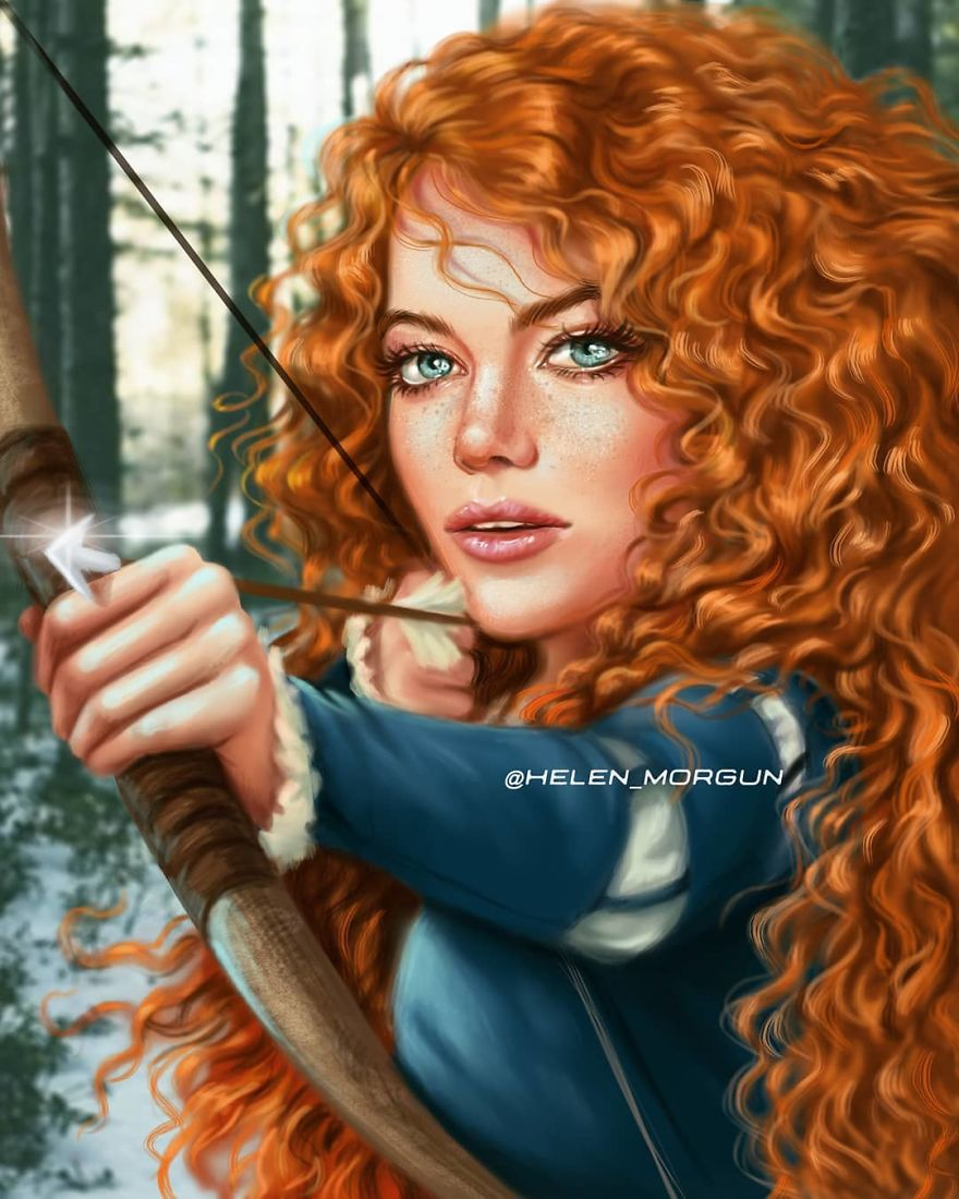 Emma Stone As Merida