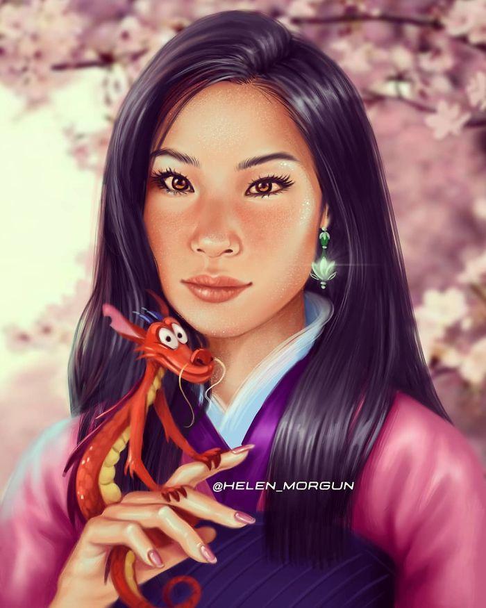 Lucy Liu como Mulan