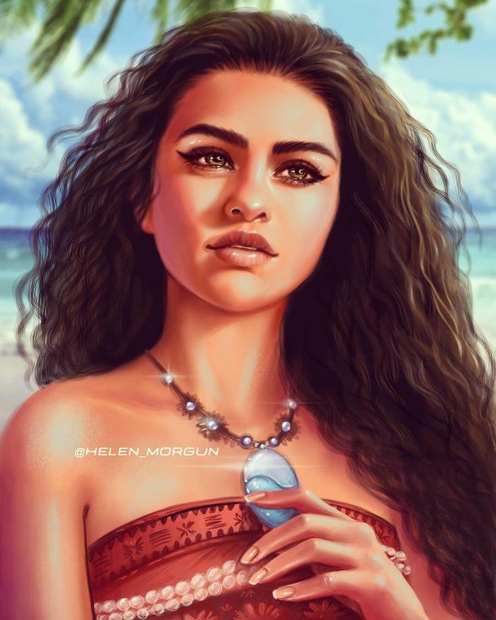 Selena Gomez como Moana