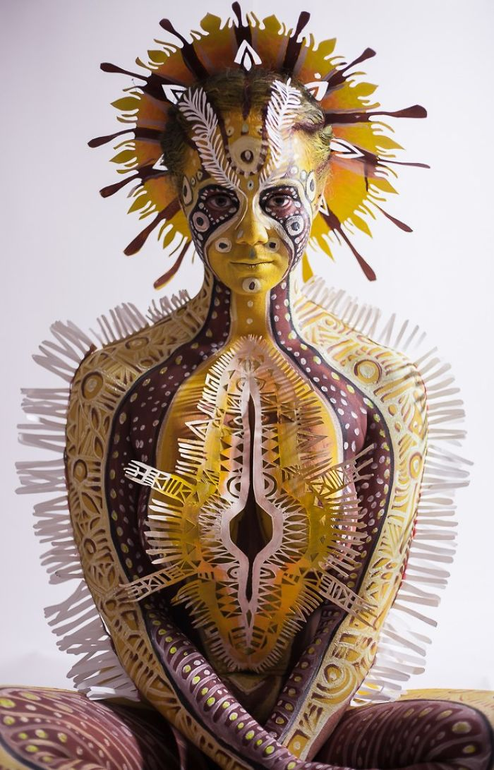Inspiring Paper Art And Bodypainting By Artist Vilija Vitkute