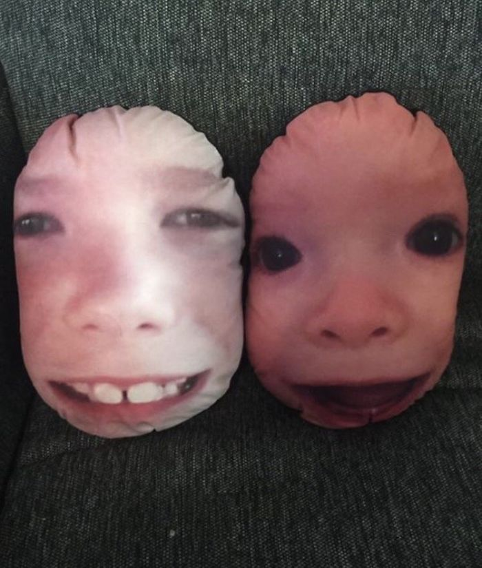 My Nephew's Faces On Pillows For A Mother's Day Gift Was A Great Idea In Theory