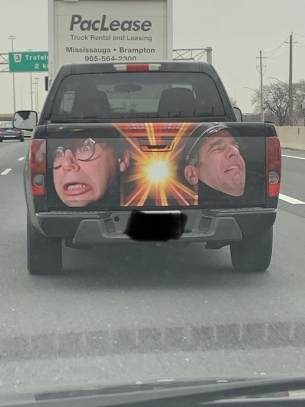 This Guy Doing Ludicrous Speed Down The Highway This Morning