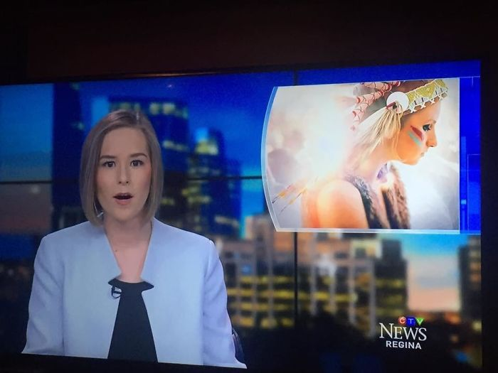 News Does A Report On Missing/Murdered Aboriginal Women And They Use A White Girl At Coachella Wearing A Headdress As The Picture