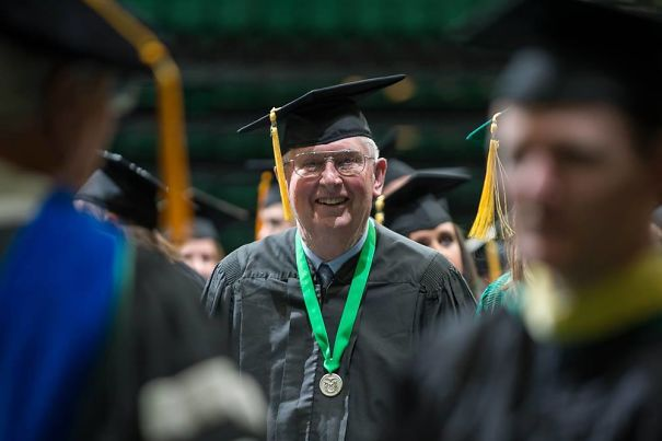 To All The People Feeling Behind Everyone Else Graduating At 22, This Man Is 81 And Just Walked In CSU's Graduation With A Bachelor's Degree