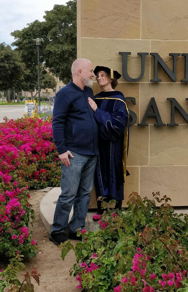 My Mom With My Step Dad After She Graduated With Her PhD