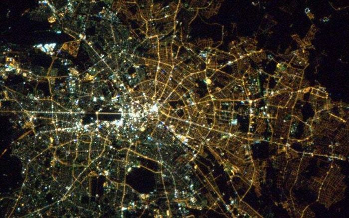 Nearly 25 Years After The Fall Of The Berlin Wall, The Difference In Types Of Light Bulbs Can Still Be Seen From Space