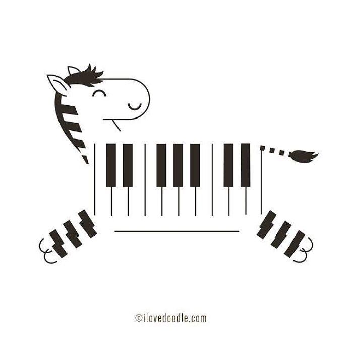 Zebra Piano