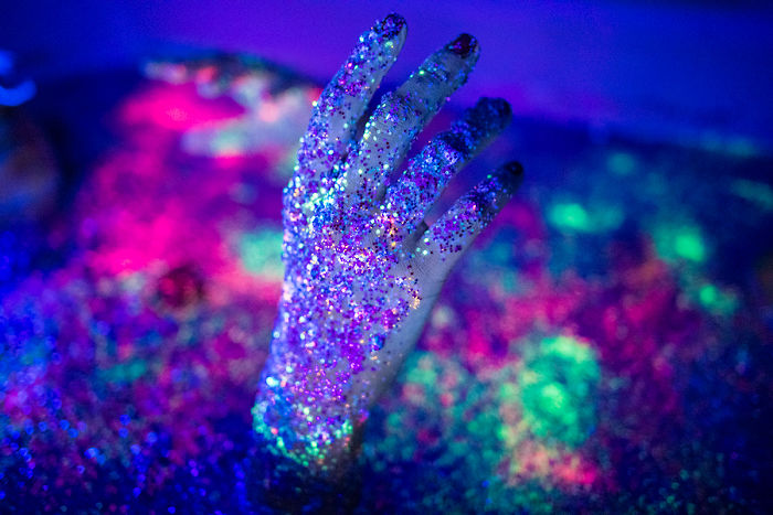 I Create A Neon Wonderland With Glitter