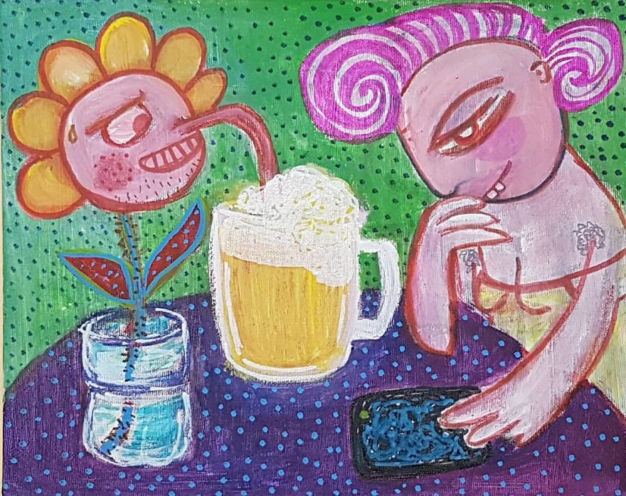 Alcoholic Flower Stealing Beer
