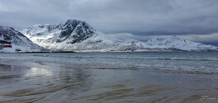 Beach Of Grøtfjord