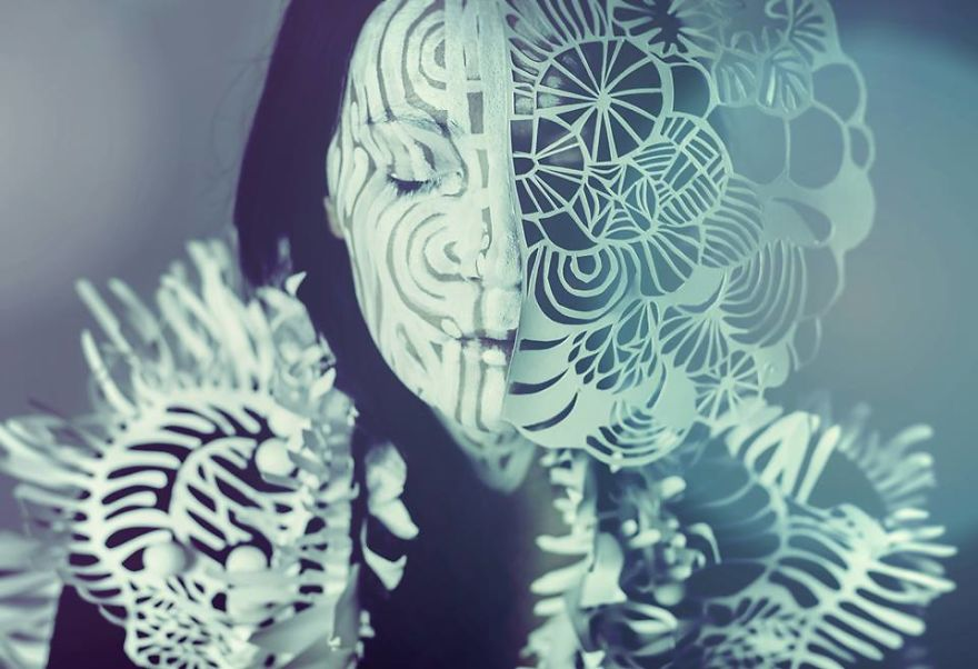 Inspiring Paper Art And Bodypainting By Artist Vilija Vitkute