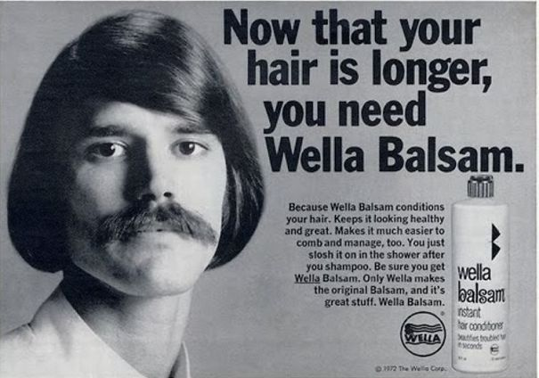 These Old Ads Showed How Much Men Were Vain With Their Hair In The 1970s
