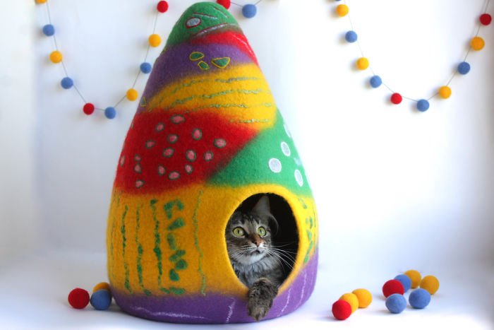 Colorful Cat Bed