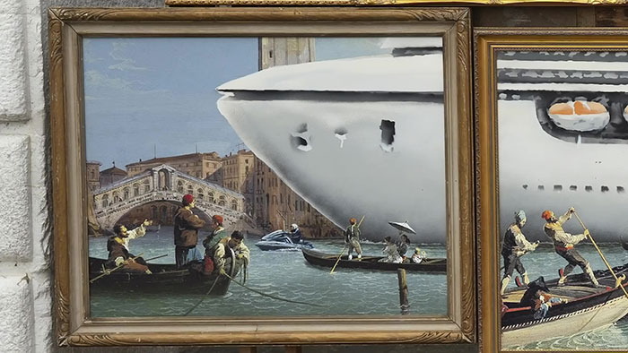 Banksy Gets Kicked Out The Venice Art Biennale After Creating Unlicensed Street Stall With Social Commentary
