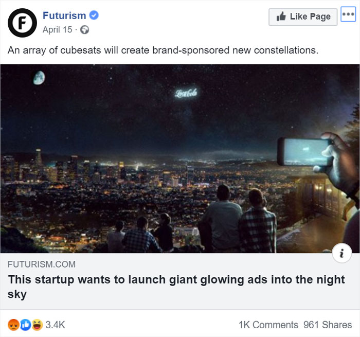 Imagine Covering The Stars With Advertisements