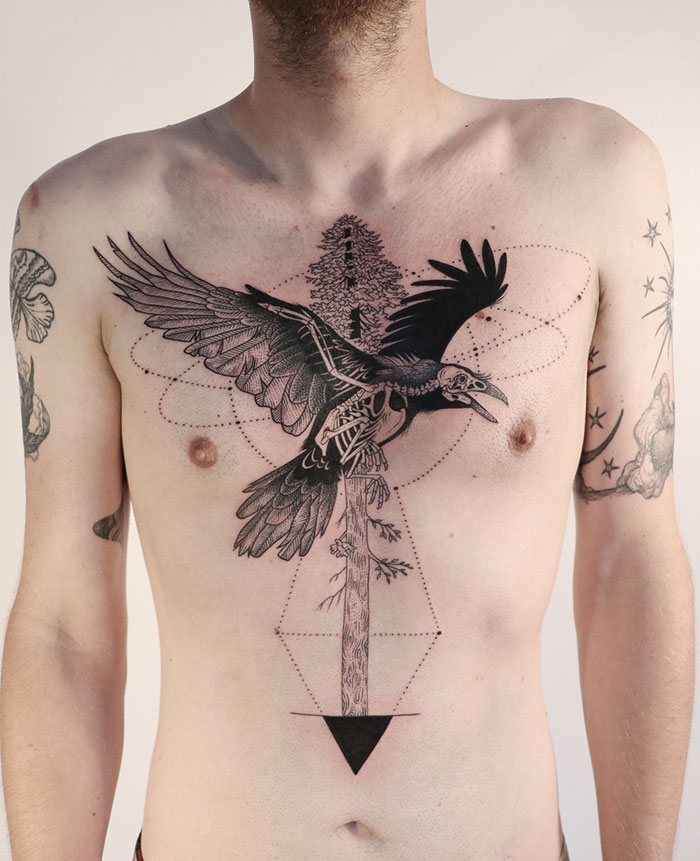 40 Incredible Chest Tattoo Ideas You Re Sure To Find Unique One To