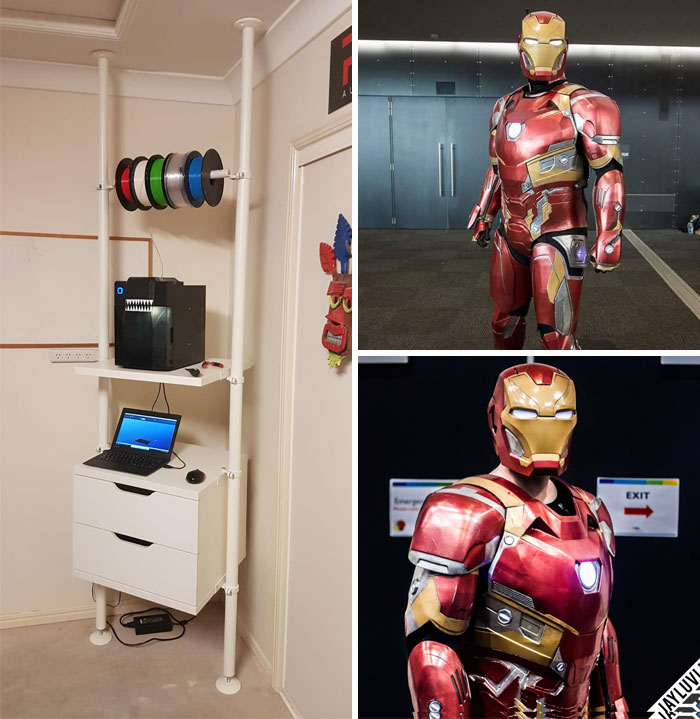 Proof That Perseverance Pays Off... My Full Iron Man Suit, Printed In Many, Many Pieces On My Tiny Up Mini Over 6 Months