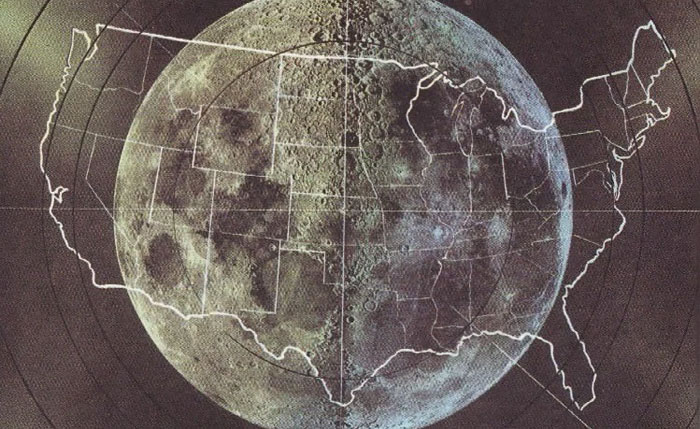 Size Of The Moon Compared To USA