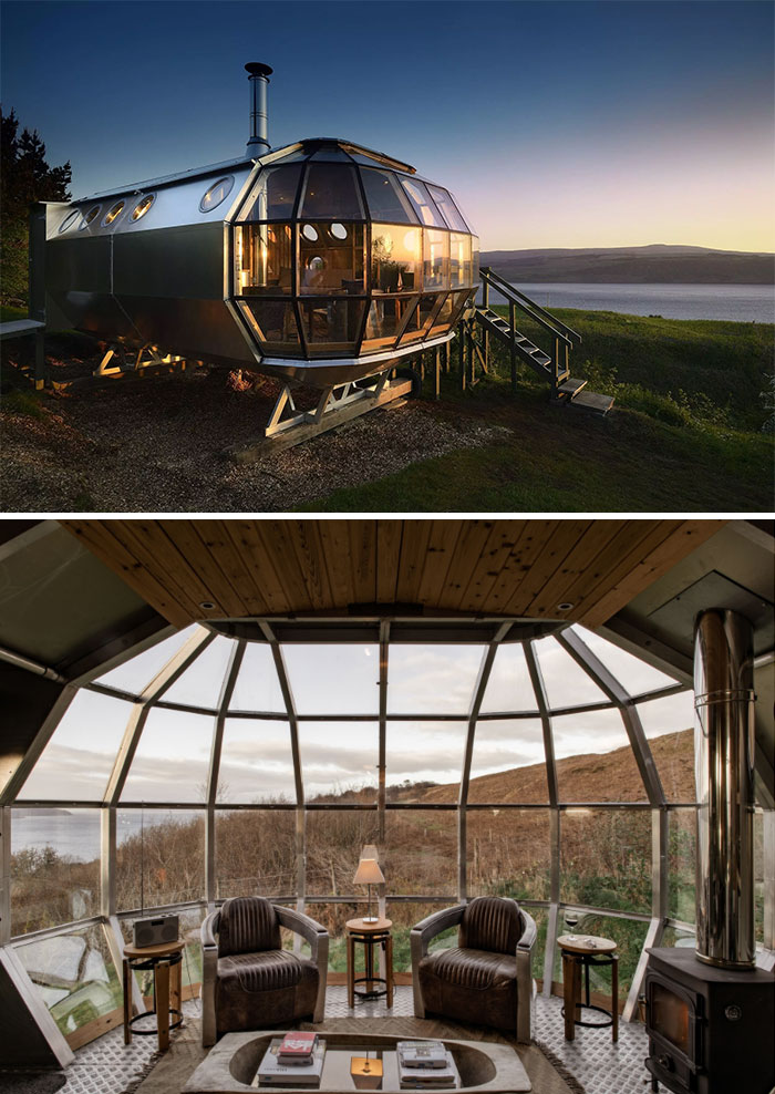 Secluded Airship In Scotland