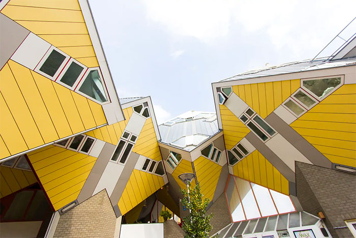 Cubehouse In Central Rotterdam, Netherlands