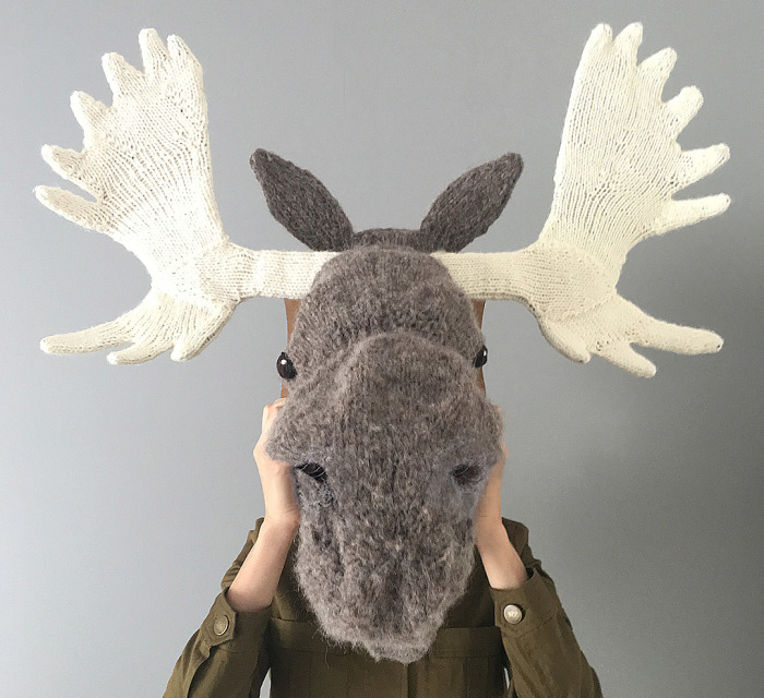 I Knit This Moose Head For A Wedding Present