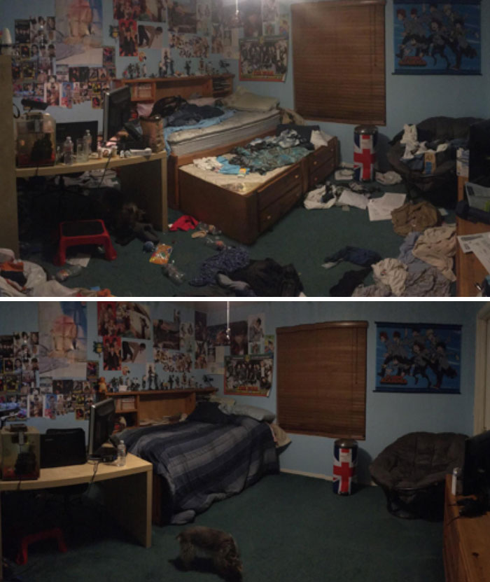 Finally Cleaned My Room After My Depression Took A Steep Dive. I'm Feeling Better Already