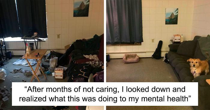 28 Before & After Bedroom Photos Of People Who Suffer From Depression |  Bored Panda