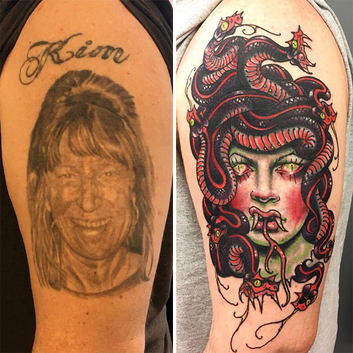 Medusa Head Coverup Of An Ex-Wife By Nick Hetzel. Adios Kim