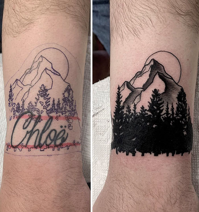 Before And After Wrist Cover Up