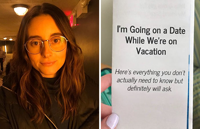 This Woman Had A Date During A Family Vacation, Gave Everyone A Leaflet To Answer Their Annoying Questions