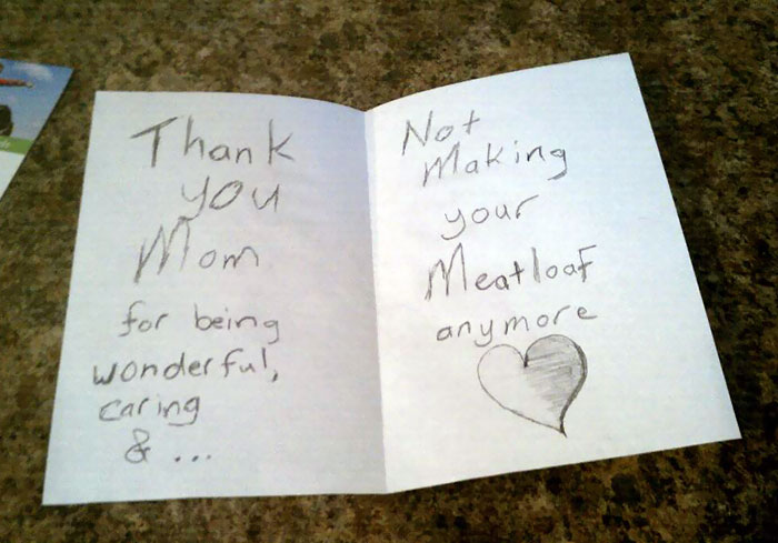 Friend's 5th Grade Son Made Her This Card On Mother's Day