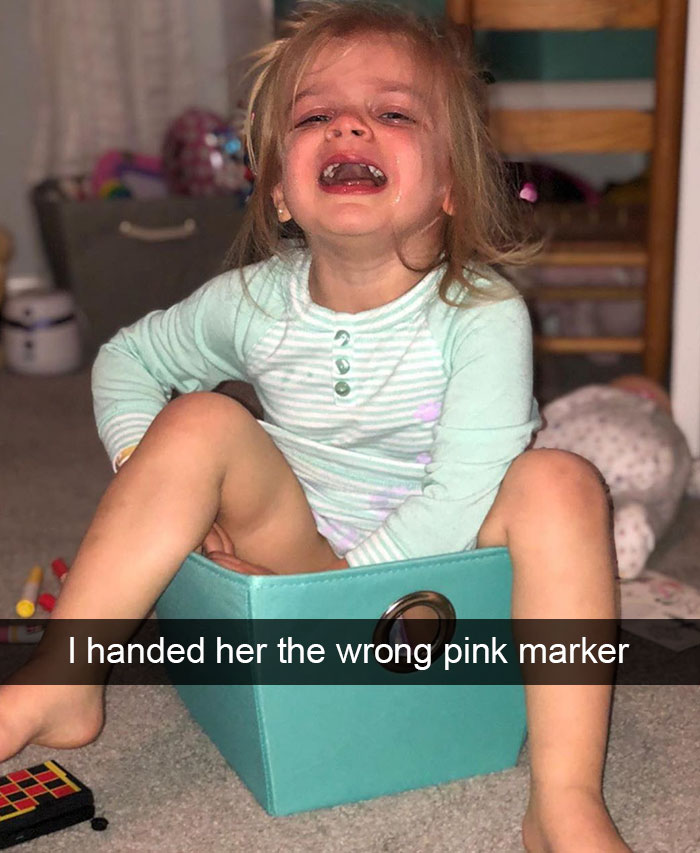 I Handed Her The Wrong Pink Marker