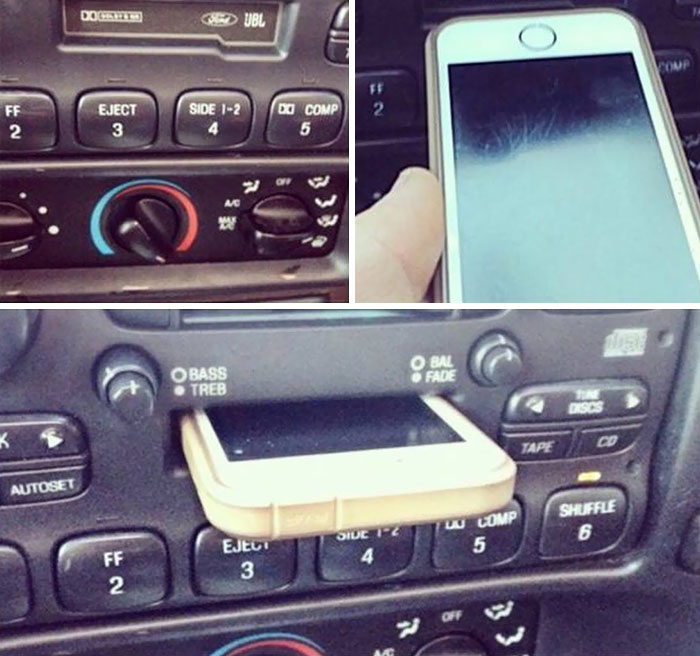 "My Brother Was Upset Because His Car's ""Docking Station"" For His iPhone Wasn't Working And It Was Scratching His Screen"