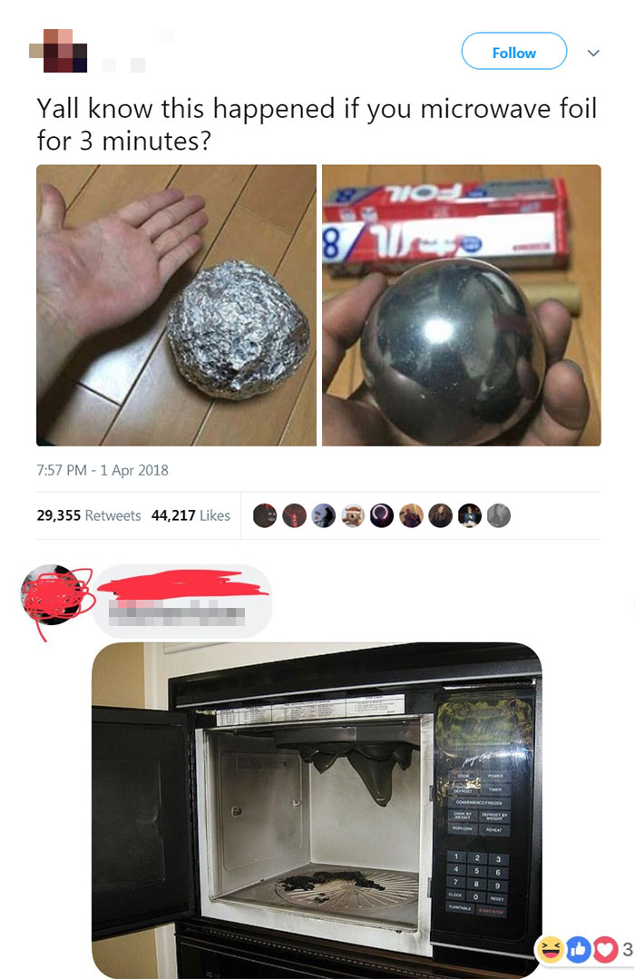 """Microwaved This Foil Ball For 3 Minutes And This Is The Result"""