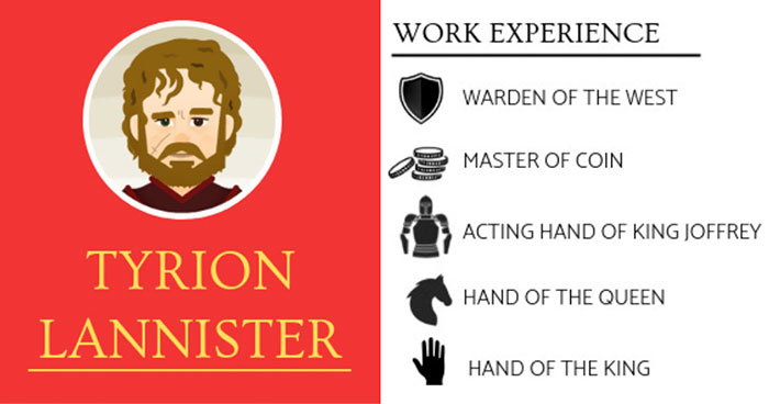 I Work In The Recruitment Industry, So I Imagined The Resumes Of Game Of Thrones Characters (10 Pics)
