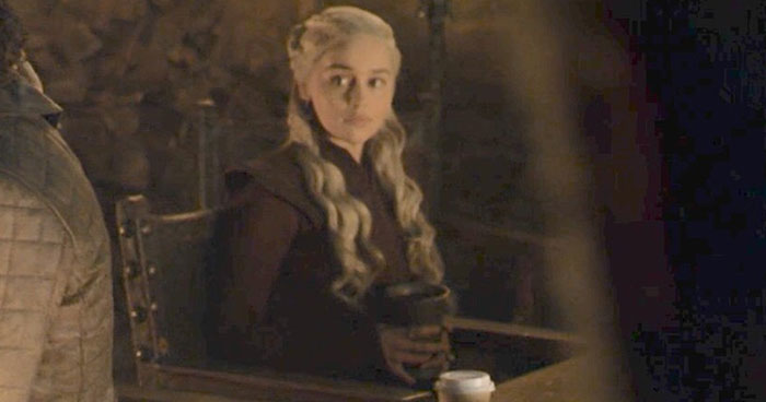 Game Of Thrones Accidentally Leave A Starbucks-Like Cup In One Of The Scenes And People Are Losing It (Updated)